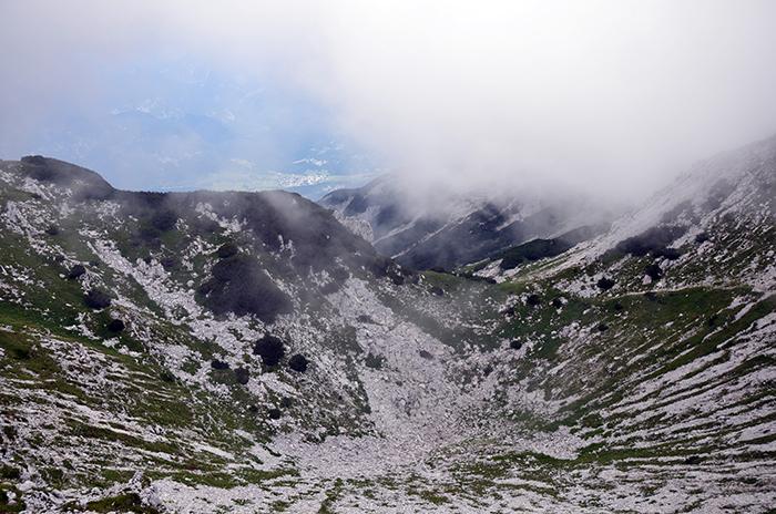 Pogled na severno stran pobočja
